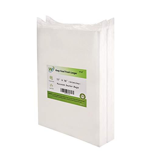 Vacuum Sealer Bags Heavy Duty, 11x 16 Gallon Vacuum Sealer Bags x 100 bags, Food Vacuum Sealer Bags, Meat Vacuum Sealer Bags, Fit nutrichef, foodsaver, jzbrain oliso weston Vacuum Sealer Bags, BPA Free Sous Vide, Best Deal!