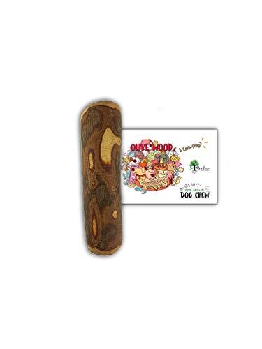 Bio Mordiscos Hundespielzeug kauspielzeug aus Olivenbaumholz für Hunde – 100% natürlich (S 60-99g)