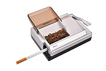 Hawk-Matic Personal Use Electric Cigarette Injector Smoke injecting Machine Tobacco Rolling Machine Color Silver…