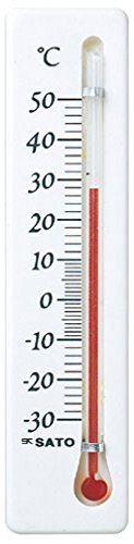 佐藤計量器(SATO) 温度計 冷蔵庫用 ミニ 縦型 -30~50度 ホワイト