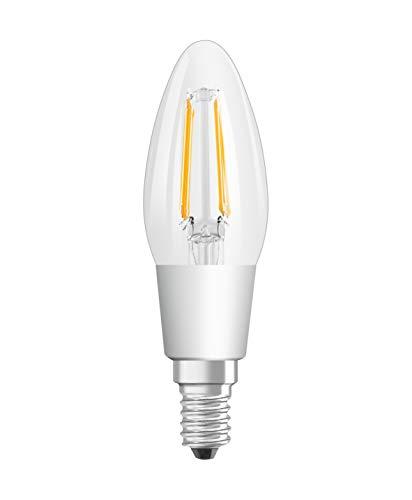 Osram Star+ Ampoule LED à Filament   Culot E14   Forme Flamme   Dimmable (Glow DIM)   Blanc Chaud 2000K/2700K   5W (équivalent 40W)