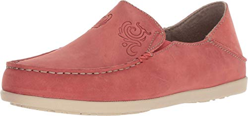 OLUKAI Women's Nohea Nubuck Slip On Shoes, Raw Clay, 6