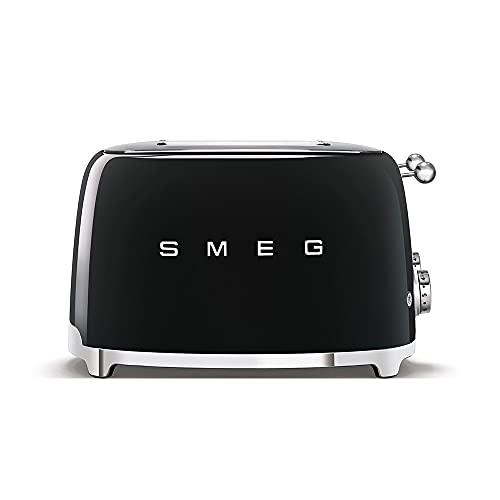 SMEG 2 Slice Toaster TSF01 - Black, Standard