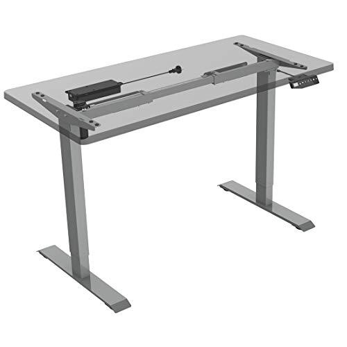 Flexispot E1S Höhenverstellbarer Schreibtisch Elektrisch höhenverstellbares Tischgestell 2-Fach-Teleskop, mit Memory-Steuerung (Grau)
