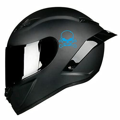 Adhesivo para casco de moto con diseño de calavera, accesorios para scooter o moto, de cristal, personalizable, cód. C0006