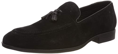 Red Tape Cobham, Mocasines para Hombre, Negro (Black 0), 43 EU