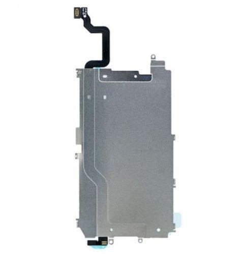 XcellentFixParts Display LCD Pantalla Placa Metal Reemplazo para iPhone 6 + Boton Home Escudo Calor Screen Placa Trasera de Protección Térmica con Extensión Pre-instalada de Cable Flexible