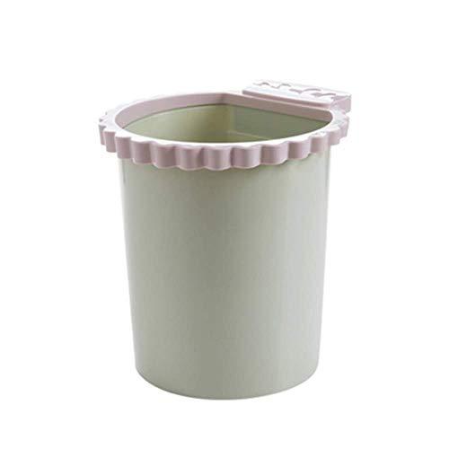 XZJJZ Bote de Basura-Presión Anillo Bote de Basura sin Tapa Clasificación de Basura Cesta Redonda de plástico Cubo de Basura Cocina Sala de Estar Cuarto de baño Colores (Color : A)