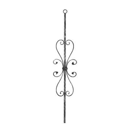Fenau | Zierstab | Länge: 900 mm | Material: 12x12 mm | glatt | Stahl (Roh) S235JR