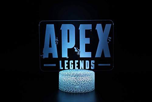 QHDHGR Lámpara de mesa de 7 colores con interruptor táctil 3D Lámparas APEX visual, LED, luz de lava acrílica, iluminación de habitación, regalos