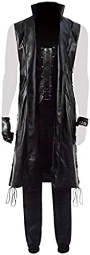 YeWeißSpiel Cry 5 V Kostüm Herren Cosplay Karneval Kunstleder Mantel Hose Gürtel Outfit