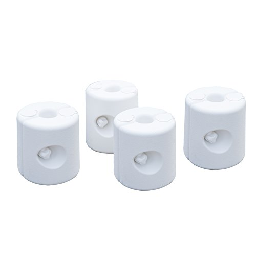 Outsunny Set 4 Pezzi Pesi Riempibili con Acqua o Sabbia per Gazebo Plastica PE 22 x 24 x 25 cm Bianco