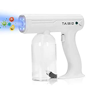 TAIBID Nano Spray Fogger, 27oz Steam Gun Handheld Rechargeable Disinfection Fogger Atomizer Large Capacity ULV Electric Fogger Machine for Home, Office, School, Garden, Indoor or Outdoor by TAIBID