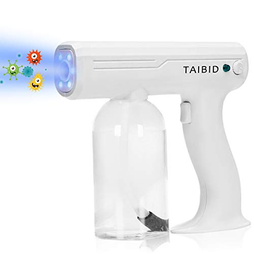 TAIBID Nano Spray Fogger, 27oz Steam Gun Handheld Rechargeable Disinfection Fogger Atomizer Large Capacity ULV Electric Fogger Machine for Home, School, Office, Garden, Indoor or Outdoor