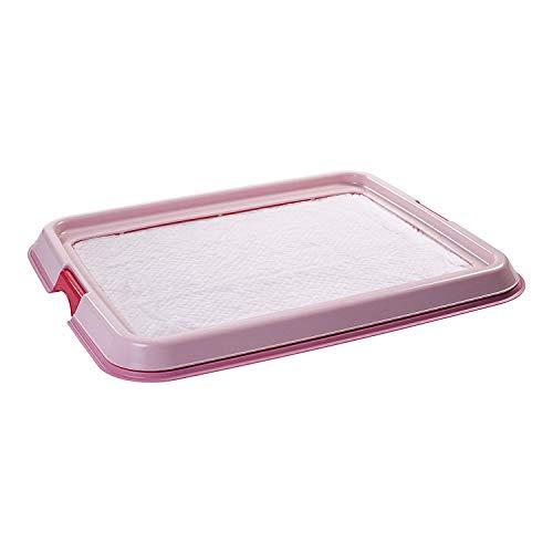 Iris Ohyama, entrenamiento del perro / bandeja de la educación a la limpieza - Pet Tray - FT-650, plástico, rosa, 65 x 55 x 5 cm