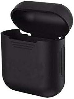 غطاء واقي من الصدمات من السيليكون من دووين لهاتف إيربودز صندوق شحن سماعة أذن لاسلكي حقيقي - أسود