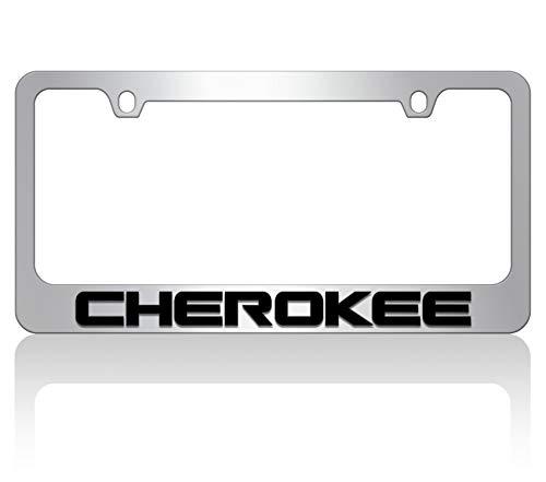 Eurosport Daytona Chrome License Plate Frame- 2018 JEEP Cherokee W/O Black Word