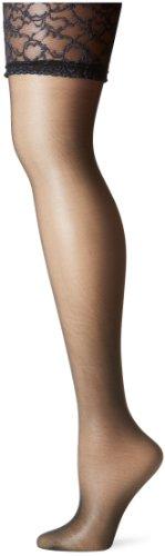 Berkshire Women's Plus-Size Silky Sheer Sexyhose Stockings 1361, City Beige, Queen 2