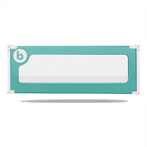 Barrière RQ Baby Child Bed Clôture Vertical Lift No Touch Table de Chevet Utilisation de la Peau Intime Plus assurée -150cm, 180cm, 200cm (Color : Green, Size : L-200cm)