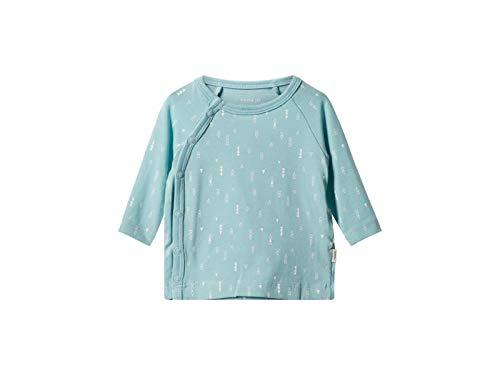 Name It Nbndelucious Ls Wrap Top Noos T-Shirt, Bleu (Canal Blue), 68 Mixte bébé