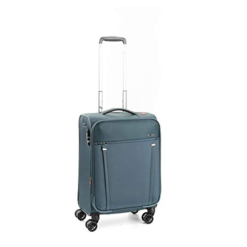 Roncato Maleta Pequeña S Blanda Zero Gravity - Cabina cm. 55 x 38 x 21/24.5 Capacidad 41/47 L, Extensible, Ligero, Organización Interna, Cierre TSA, Aprobado para: Easyjet Lufthansa, Garantìa 5 años