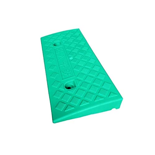 Goede kwaliteit indoor oprijplaat, klein plastic uphill pad mobiele telefoon kinderwagen, stap hellingen buitenshuis beweegbare dienst hellingen afmetingen: 49 x 21,5 x 5 cm praktisch 49*21.5*5CM groen