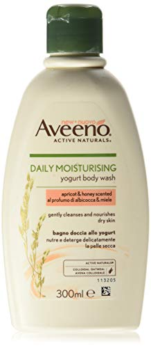 Aveeno - Gel ducha aroma albaricoque miel, 300 ml