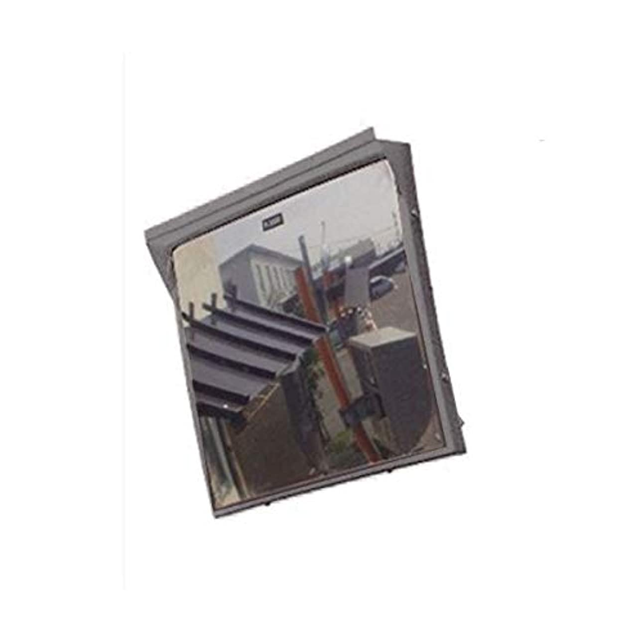 ソート持続するトリッキーカーブミラー 角型600mm×800mm アクリル製ミラー(道路反射鏡) HPLA-角6080S(グレー)
