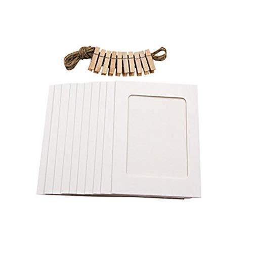 HJCWL 10 stuks 3 inch papier doe-het-zelf aan de muur hangende lijst album touwclips set huis creatief geschenk bruiloft decoratie slinger