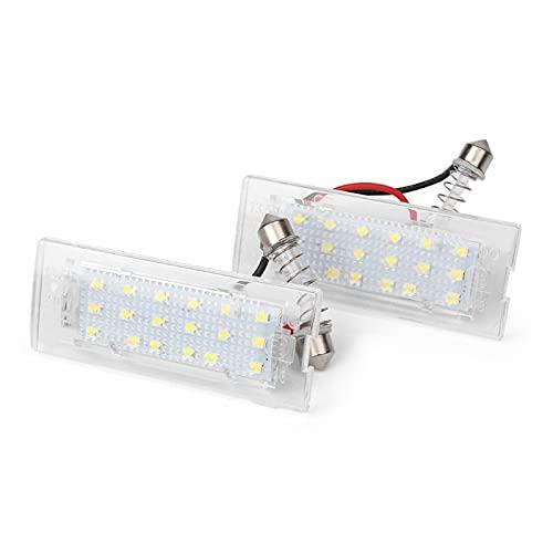 WUYANZI 2Pcs Error Free Car License Number Plate Light 12V White LED Lamp Fit For B/MW E53 X5 1999-2006 & E83 X3 2003-2009