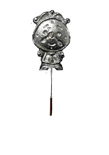 FT384 Happy Pendulum Klok 1.6x2.6cm Engels Tinnen op een stropdas stok pin hoed sjaal kraag geplaatst door ons geschenken voor alle 2016 van DERBYSHIRE UK
