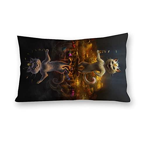 Fundas de almohada de Pokemon para sofá, cama, hogar, habitación, coche, decoración de 20 x 30 pulgadas