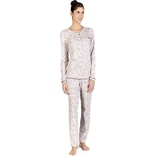 Señoretta Pijama de Mujer en algodón 182107 - Marron, XXL