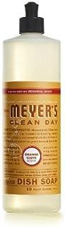 Mrs. Meyer's 17430 Clean Day Orange Clove Liquid Dish Soap, 16oz (Pack of 3)