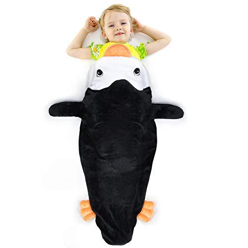 Catalonia Penguin Tails Blanket, Super Soft Plush Kids Sleeping Blanket Bag for Toddler Children Teens Boys Girls,Gift Idea
