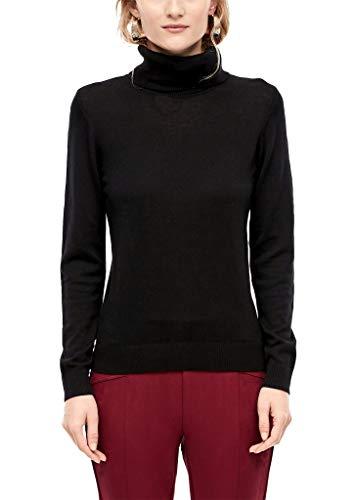 s.Oliver Damen 05.911.61.7016 Pullover, Schwarz (Black 9999), (Herstellergröße: 44)