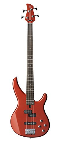 Yamaha TRBX204 BRM 4-String Bass Guitar, Bright Red Metallic