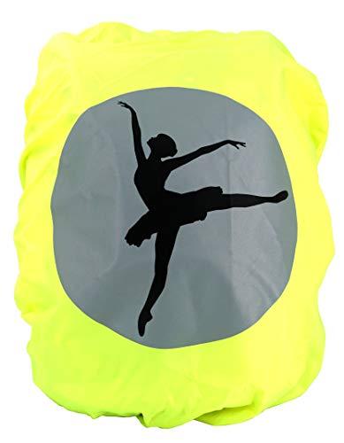 EANAGO Premium Schulranzen/Rucksack Regenschutz/Regenüberzug, ohne Nähte, 100% wasserdicht, mit Sicherheits-Reflektionsbild (Ballerina)