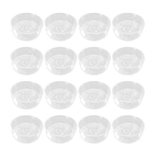 SUPVOX Plastic Candle Tealight Cup Tea Wax Shell Wax Melt Molds Round Clear Wax Holder Plastic Wax Melt Clamshells 100PCS