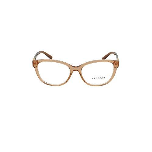 Versace 0VE3273 Monturas de gafas, Transparente Brown, 54 para Mujer