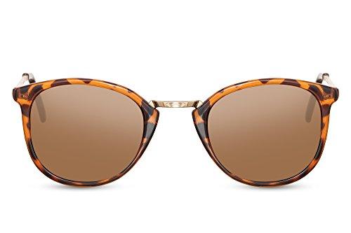 Cheapass Gafas de Sol Animal Print Marrón Leopardo Mujer Hombre