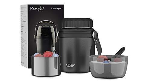 Kengis - Termo para alimentos de acero inoxidable austriaco, 1 litro de capacidad para bebés, cereales o cereales para llevar, fiambrera térmica, termo para mantener caliente, recipiente para comida