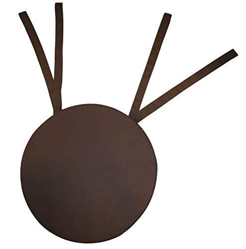 Galette de chaise ronde 40x4 cm Chocolat