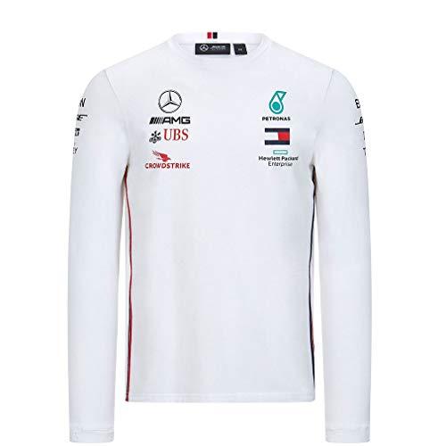 Mercedes-AMG Petronas Formel 1 Herren 2020 Team Langarm T-Shirt, Schwarz, Größe S Small weiß