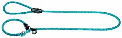Retriever-Leine mit integrierter Halsung für Hunde, mit verstärktem Taumaterial und Lederkappen - ideal für Hundetraining und Freizeit Durch die runde Form ist die Halsung besonders fellschonend Der integrierte Stoppring dient zur optimalen Anpassung...