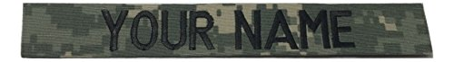 JSM Auto ACU Name Tape or US Army Tape, with Fastener or Sew-On (Without Fastener)