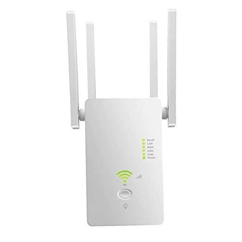 Rango Booster WiFi Booster extensor de alcance router repetidor inalámbrico a Internet AC1200M Extender universal de banda dual para PC blanca