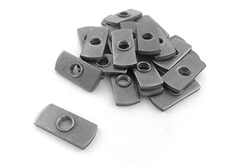 Taytools TTW05928 1/4-20 Centered Hole Sliding T-Nuts for T Track Extrusions 25 Pack