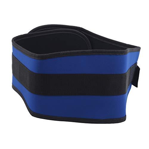 LLZIYAN Sport Taillengürtel Gewichtheben Bodybuilding Trainingsgürtel für Männer und Frauen,Blau,L.