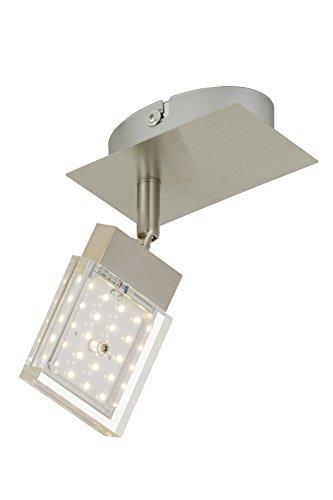 Briloner Leuchten 2867-012 Applique LED, plafonnier, Spots, Lampe Salon d'enfant ou Chambre a Coucher, orientable, Métal, 4.5 W, Matt-Nickel, 12 x 7.5 x 6.3 cm